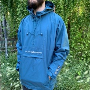 ROCAWEAR Blue Hoodie RainCoat Jacket Sz XL